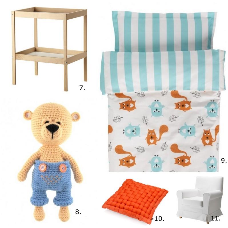 pomarnczowy pokój dla dziecka