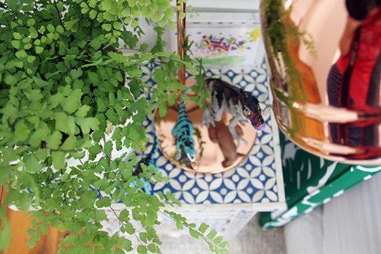 Pokój dla chłopca, aranżacja pokoju dla chłopca dinozaury, zielony